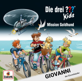Roland Geiger als Giovanni in Die drei ??? Kids – Folge 65 Mission Goldhund