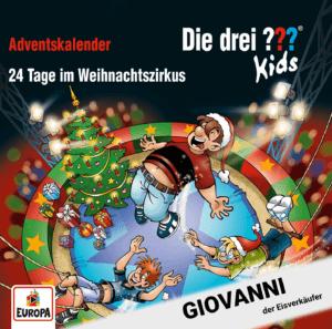 Roland Geiger als Giovanni in Die drei ??? Kids – Adventskalender 2019 - 24 Tage im Weihnachtszirkus